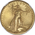Proof High Relief Double Eagles, 1907 $20 High Relief, Wire Rim PR66 NGC....