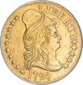 Early Half Eagles, 1795 $5 Small Eagle AU55 NGC....