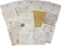 Movie/TV Memorabilia:Memorabilia, Famous Players-Lasky Vintage Contracts and Letters.... (Total: 19 Items)