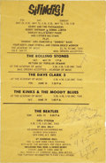 Music Memorabilia:Posters, Gerry & The Pacemakers Shindig! Performance Flyer....