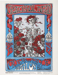 Music Memorabilia:Posters, Grateful Dead Skeleton and Roses Concert Handbill FD-26(Family Dog, 1966)....