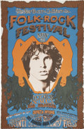 Music Memorabilia:Posters, Doors Northern California Folk-Rock Festival (Q. R. Productions,1968). ...