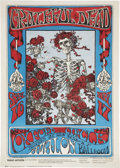 Music Memorabilia:Posters, Grateful Dead Skeleton and Roses Avalon Poster # FD26-2,Second Printing (Bindweed Press/Family Dog, 1966)....