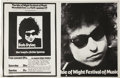 Music Memorabilia:Posters, Dylan Isle Of Wight Festival Event Poster (1969). ...