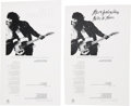 "Music Memorabilia:Memorabilia, Bruce Springsteen ""Born To Run"" 45 Sleeve Proofs (1975).... (Total:2 Items)"