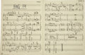 Music Memorabilia:Autographs and Signed Items, Frank Zappa Handwritten Sheet Music....