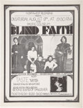 Music Memorabilia:Posters, Blind Faith Pacific Coliseum Concert Handbill (Northwest Releasing,1969)....