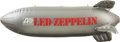 "Music Memorabilia:Memorabilia, Led Zeppelin 30"" x 25"" Inflatable Promotional Blimp...."