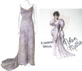 Movie/TV Memorabilia:Costumes, Nolan Miller Designed Sequined Gown for Elizabeth Taylor.... (Total: 2 Items)