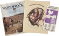 Music Memorabilia:Memorabilia, Woodstock Tour Book, Flyer, and Rolling Stone SpecialEdition.... (Total: 3 Items)