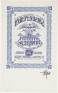 Music Memorabilia:Posters, Quicksilver Messenger Service Independence Concert PosterSigned By Rick Griffin FD-69 (Family Dog, 1974)....
