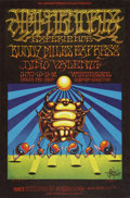Music Memorabilia:Posters, Jimi Hendrix Experience/Buddy Miles Express Winterland Concert Poster Signed by Victor Moscoso and Rick Griffin BG-140 (Bill G...