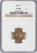 Proof Indian Cents, 1862 1C PR65 NGC....