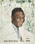 Music Memorabilia:Autographs and Signed Items, Nat King Cole and Others Signed 1956 Tour Book....