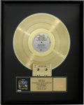 Music Memorabilia:Awards, UB40 Labour of Love RIAA Gold Album Award....
