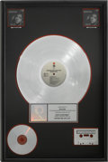Music Memorabilia:Awards, Natalie Cole Unforgettable With Love RIAA Platinum SalesAward....