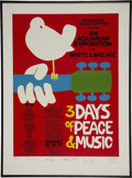 Music Memorabilia:Posters, Woodstock Limited Edition Autograph Concert Poster....