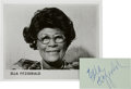 Music Memorabilia:Autographs and Signed Items, Ella Fitzgerald Autograph.... (Total: 2 Items)