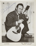"Music Memorabilia:Autographs and Signed Items, Jim Reeves 8"" x 10"" Signed Photo...."