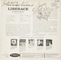 Music Memorabilia:Autographs and Signed Items, Liberace Inscribed And Signed Album....