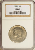 Kennedy Half Dollars: , 1971 50C MS67 NGC. NGC Census: (5/0). PCGS Population (6/0).Mintage: 155,164,000. Numismedia Wsl. Price for NGC/PCGS coin ...