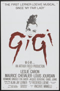 """Movie Posters:Musical, Gigi (MGM, 1958 & R-1966). Military One Sheet (27"""" X 41"""") and Pressbook (12"""" X 17""""). Musical.... (Total: 2 Items)"""