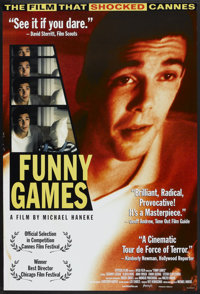 """Funny Games Lot (Attitude, 1998). One Sheets (2) (27"""" X 40""""). Crime. ... (Total: 2 Items)"""