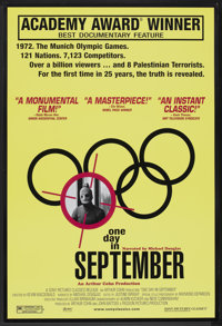 """One Day in September (Sony Pictures Classics, 2000). One Sheet (27"""" X 41""""). Documentary"""