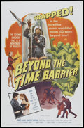 """Movie Posters:Science Fiction, Beyond the Time Barrier (MCP, 1959). One Sheet (27"""" X 41"""").. ..."""
