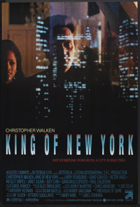 """King of New York (Seven Arts, 1990). One Sheet (27"""" X 40"""") SS. Crime"""