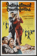 "Movie Posters:Crime, International Counterfeiters (Republic, 1958). One Sheet (27"" X 41""). Crime.. ..."