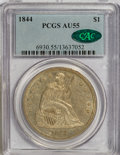 Seated Dollars, 1844 $1 AU55 PCGS. CAC....