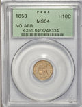 Seated Half Dimes, 1853 H10C No Arrows MS64 PCGS....