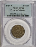 Colonials: , 1764-A SOU M French Colonies Sou Marque XF40 PCGS. PCGS Population(2/9). NGC Census: (0/0). ...