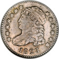 Bust Dimes, 1823/2 10C Small E's MS62 NGC....