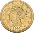 Liberty Quarter Eagles, 1840-C $2 1/2 AU55 NGC....