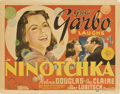 "Movie Posters:Comedy, Ninotchka (MGM, 1939). Title Lobby Card and Lobby Cards (3) (11"" X14"").. ... (Total: 4 Items)"