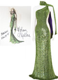 Movie/TV Memorabilia:Costumes, Nolan Miller Designed Sequined Gown for Farrah Fawcett.... (Total:2 Items)