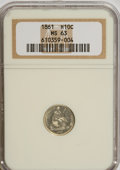 Seated Half Dimes: , 1861 H10C MS63 NGC. NGC Census: (101/214). PCGS Population(72/155). Mintage: 3,361,000. Numismedia Wsl. Price for NGC/PCGS...