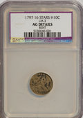 Early Half Dimes, 1797 H10C 16 Stars--Bent--NCS. AG Details. LM-3. NGC Census:(0/157). PCGS Population (1/167). Mintage: 44,527. Numismedia...