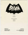Memorabilia:Movie-Related, Batman Movie Script Photocopy (Warner Brothers, 1988)....