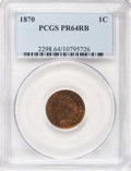 Proof Indian Cents: , 1870 1C PR64 Red and Brown PCGS. PCGS Population (71/35). NGC Census: (38/46). Mintage: 1,000. Numismedia Wsl. Price for NG...