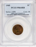 Proof Indian Cents: , 1905 1C PR64 Red and Brown PCGS. PCGS Population (97/56). NGC Census: (52/65). Mintage: 2,152. Numismedia Wsl. Price for NG...