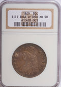 Bust Half Dollars: , 1809 50C III Edge AU50 NGC. O-109A. NGC Census: (7/31). PCGSPopulation (8/38). Numismedia Wsl. Price for NGC/PCGS coin i...