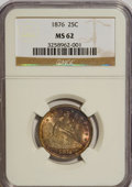 Seated Quarters: , 1876 25C MS62 NGC. NGC Census: (51/218). PCGS Population (63/274).Mintage: 17,817,150. Numismedia Wsl. Price for NGC/PCGS ...