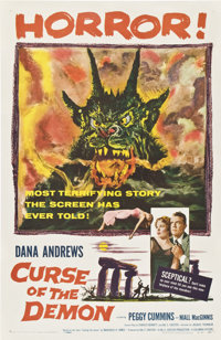 """Curse of the Demon (Columbia, 1957). One Sheet (27"""" X 41"""")"""