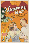 """Movie Posters:Horror, The Vampire Bat (Majestic, 1933). One Sheet (27"""" X 41"""").. ..."""