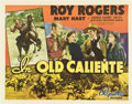 """Movie Posters:Western, In Old Caliente (Republic, 1939). Half Sheet (22"""" X 28"""") Style B.. ..."""
