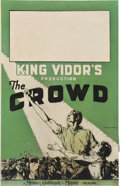 "Movie Posters:Drama, The Crowd (MGM, 1928). Window Card (14"" X 22"").. ..."