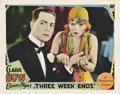 """Movie Posters:Comedy, Three Week Ends (Paramount, 1928). Lobby Card (11"""" X 14"""").. ..."""